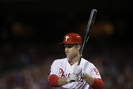 Chase Utley stepping out of batter's box