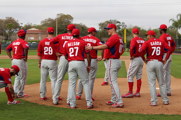 Phillies First Full Squad Workout