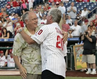 Larry Shenk with Mike Schmidt