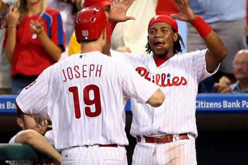 Tommy Joseph and Maikel Franco