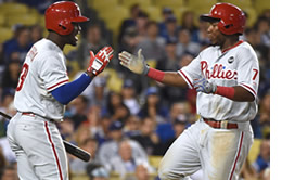 Maikel Franco and Odubel Herrera of the Phillies