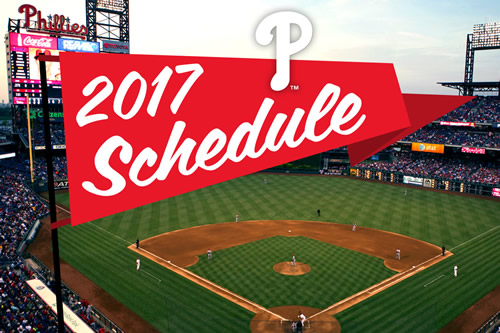Phillies 2017 schedule notes